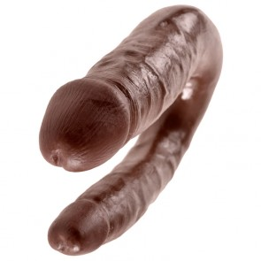 King Cock U-Shaped Small Double Trouble Double Penetrator Dildo