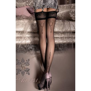 Ballerina 241 Hold Up Stockings Nero (Black)