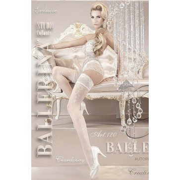 Ballerina 120 Hold Up Stockings Bianco (White)