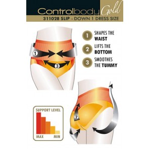 Control Body Gold Shaping Brief - Medium Support