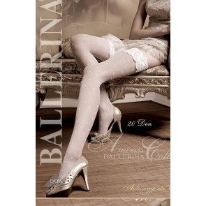 Ballerina 006 Hold Up Stockings Bianco (White)
