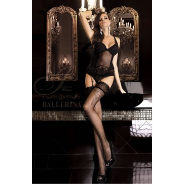 Ballerina 262 Hold Up Stockings Nero (Black)