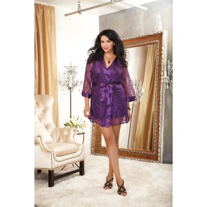 Dreamgirl Sultry and Sexy Plus Size Lace Robe and Babydoll