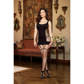 Dreamgirl Capri Plus Size Garter Dress - Black