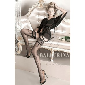 Ballerina 127 Hold Up Stockings Nero (Black)