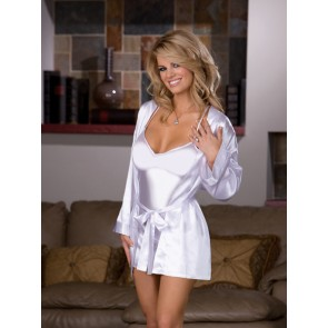 Dreamgirl Yours Truly Robe & Babydoll Set