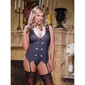Dreamgirl Working Late Plus Size Garter Slip