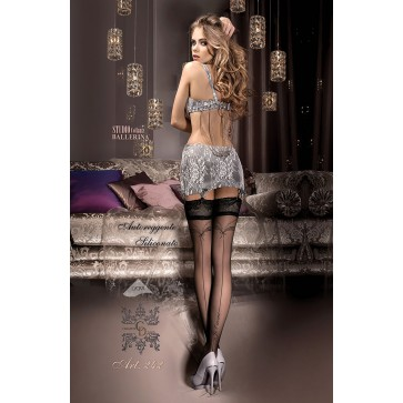 Ballerina 242 Hold Up Stockings Nero (Black)