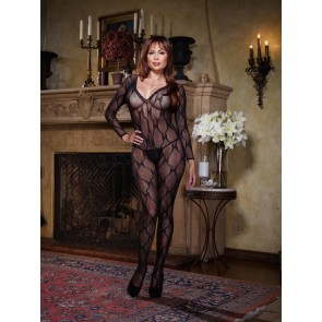 Dreamgirl Bordeaux Plus Size Bodystocking