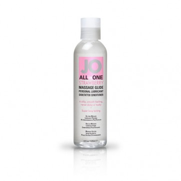 JO All-in-One Massage Glide 120ml - Strawberry