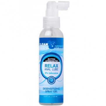 Clean Stream Relax Anal Lube  Extra Strength Desensitising Spray Gel 130ml