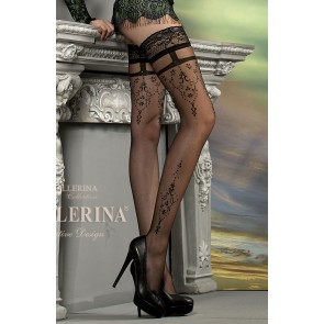 Ballerina 212 Hold Up Stockings Nero (Black)