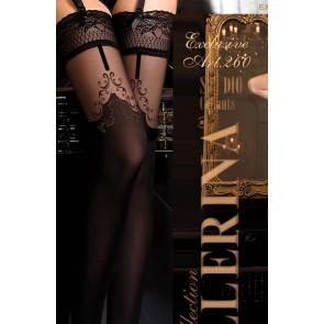 Ballerina 260 Hold-Up Stockings Nero (Black)