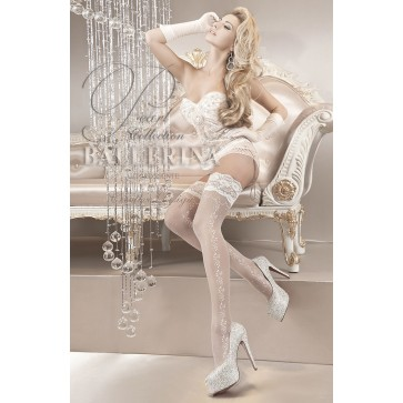 Ballerina 119 Hold Up Stockings Bianco (White)