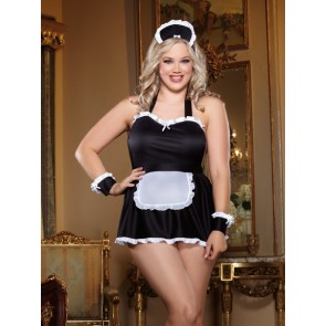 Dreamgirl Maid Me Dirty Plus Size Babydoll