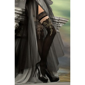 Ballerina 220 Hold Up Stockings Nero (Black)
