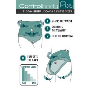Control Body Plus High Waist Brief - Firm Support