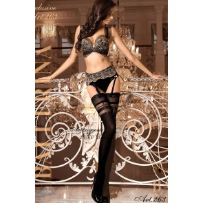 Ballerina 263 Hold Up Stockings Nero (Black)