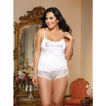 Dreamgirl First Kiss Plus Size Top & Shorts Set