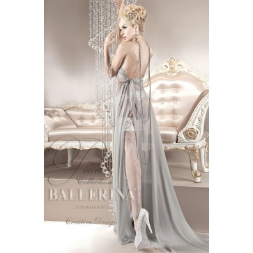 Ballerina 123 Hold Up Stockings Bianco (White)