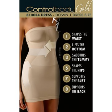 Control Body Gold Shaping Dress - Medium Support