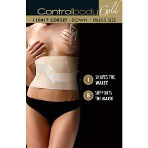 Control Body Gold Boned Corset - Firm Support