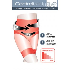 Control Body Silver Shaping Short - Firm Support