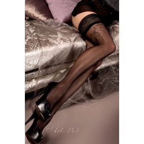 Ballerina 243 Hold Up Stockings Nero (Black)