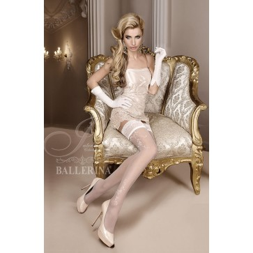 Ballerina 256 Hold Up Stockings Avorio (Ivory)