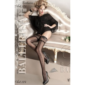Ballerina 124 Hold Up Stockings Nero (Black)