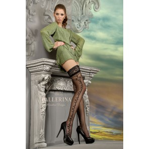 Ballerina 216 Hold Up Stockings Nero (Black)