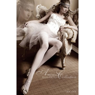 Ballerina 007 Hold Up Stockings Bianco (White)