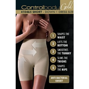 Control Body Gold Shaping Short - Firm Support