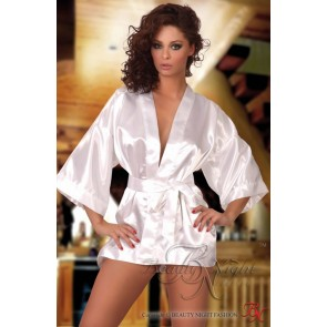 Beauty Night Maggie Dressing Gown - White