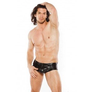 Zeus Wet-Look Sleek Shorts