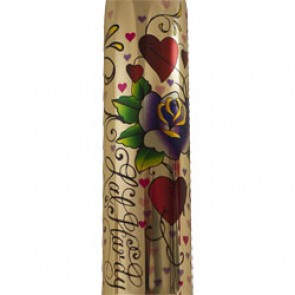 Rocks Off RO-160mm Erotic Ink Bullet Vibrator - Hearts and Roses