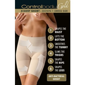 Control Body Gold Push-Up Short - Firm Support
