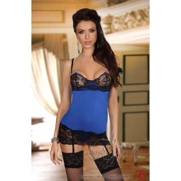 Beauty Night Shirley Chemise - Dark Blue