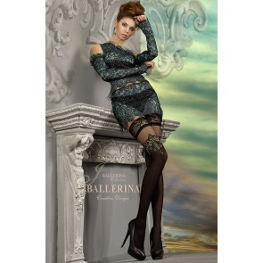 Ballerina 221 Hold-Up Stockings Nero (Black)