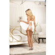 Dreamgirl Bridal Pleated Chiffon Babydoll
